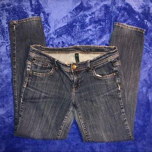 Benetton slim fit jeans ladies size 30 EUC